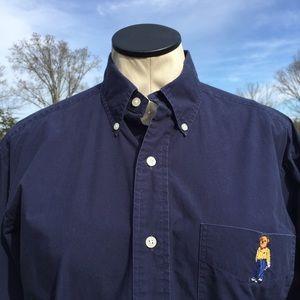 VTG Polo Ralph Lauren Golf Bear Tilden LS Shirt**S